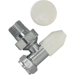 Tradesave Manual Wheelhead/Lockshield Valve 8mm Angled