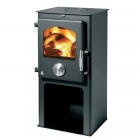 Image for Trianco Newton 5kW Multifuel Stove with Pedestal Black - 3937
