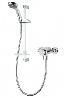 Triton Thames Exposed Mini Mixer Shower - Chrome