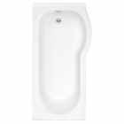 Image for Trojan Concert 1675mm x 750/850mm Right Hand Shower Bath NTH - 352811WT