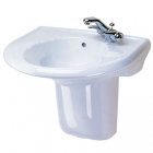 Twyford Avalon - Pedestal (Semi, 550mm-600mm Basins) - AV4909WH
