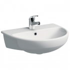 Image for Twyford Energy E100 Round Semi-Recessed 550mm 1 Tap Hole Basin - E14661WH
