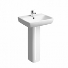 Twyford Energy E100 Square 500mm 1 Tap Hole Basin - E14141WH