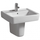 Twyford Galerie Semi-Recessed 500mm 1 Tap Hole Basin - GN4621WH