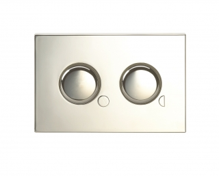 Twyford Mini Dual Flush Plate Chrome CF9032