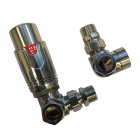 Image for Ultraheat 15mm Corner TRV And Lockshield Pack - Brushed Matt