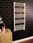 Kupka Towel Rail White In Bathroom