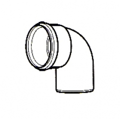 Vaillant 90° Elbow for Variable Termination Kit - White 303949