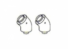 Image for Viessmann 45° Flue Bends 60/100mm (Pair) 7373227