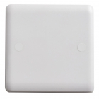 Image for Vimark Curve 1 Gang Blanking Plate White - VC1200