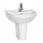 Image for Vitra S20 500mm 1 Tap Hole Cloakroom Basin - 5501L003-0999