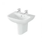 Image for Vitra S20 500mm 2 Tap Hole Cloakroom Basin - 5501L003-0022