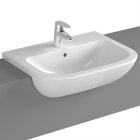 Image for Vitra S20 Semi-Recessed 550mm 1 Tap Hole Basin - 5524B003-0001