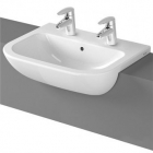 Image for Vitra S20 Semi-Recessed 550mm 2 Tap Hole Basin - 5524B003-0022