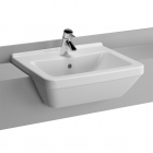 Image for Vitra S50 Compact Semi-Recessed 550mm 1 Tap Hole Basin - 5340B003-0029