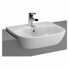 Image for Vitra Zentrum Semi-Recessed 550mm 1 Tap Hole Basin - 5632L003-0001