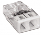 Image for Wago 2 Way Compact Push Wire Connector White Box of 100 - 2273-202