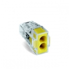 Image for Wago 2 Way Push Wire Connector Yellow Box of 100 - 773-102