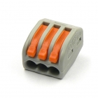 Image for Wago 3 Way Lever Connector Grey/Orange Box of 50 - 222-413