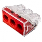 Image for Wago 3 Way Push Wire Connector Red Box of 50 - 773-173