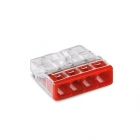 Image for Wago 4 Way Compact Push Wire Connector Red Box of 100 - 2273-204