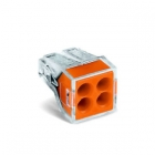 Image for Wago 4 Way Push Wire Connector Orange Box of 100 - 773-104