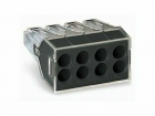 Image for Wago 8 Way Push Wire Connector Dark Grey Box of 50 - 773-108