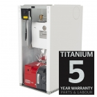 Warmflow U-Series Titanium HE 15-21kW Pre-Wired Regular Boiler Oil ErP