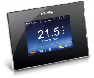 Warmup 4iE Smart WiFi Thermostat - Onyx Black