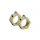Image for Wiska 20mm Brass Earthing Nut for 6mm Cable Pack of 6 - EN20