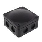 Image for Wiska 308/5 Black Combi IP66 32A Junction Box - 308/5 black