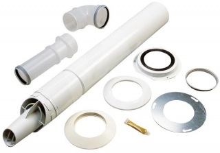 Worcester Highflow 60/100mm Telescopic Horizontal Flue Kit 7716191155