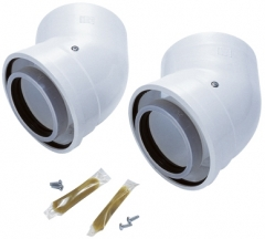 Worcester Oilfit 80/125mm 45° Elbow (pair) 7716190035
