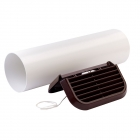 Image for Xpelair Simply Silent 100mm Easy-Fit Straight Brown Wall Kit SSWKBS