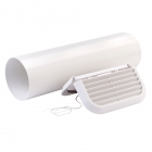 Image for Xpelair Simply Silent 100mm Easy-Fit Straight White Wall Kit SSWKWS