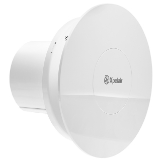 Xpelair Simply Silent Contour 100mm Round DC Constant Volume Bathroom Fan with External Transformer