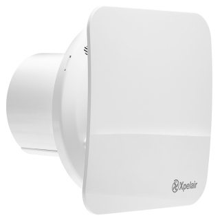 Xpelair Simply Silent Contour 100mm Square DC Constant Volume Bathroom Fan with External Transformer