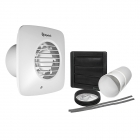 Image for Xpelair Simply Silent Standard Round 100mm SELV Bathroom Extractor Fan with Humidstat & Timer & Wall Kit LV100HTS